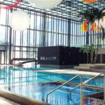 Pohled na bazény lázní Merano