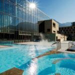 Venkovní bazén lázní Merano
