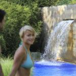 Pár v zahradách lázní Merano