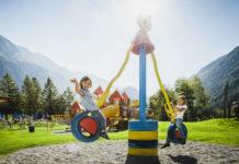 Děti na atrakci v Ötztaler Funpark