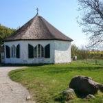 Malá kaple nad versnicí Vitt nedaleko Kap Arkona