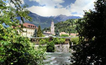Merano a řeka Passirio (Passer)