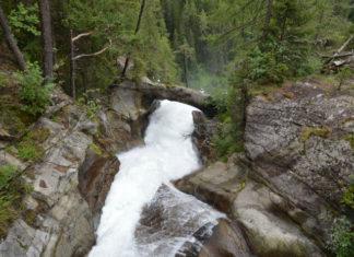 Vodopád Stuibenfall v Tyrolsku
