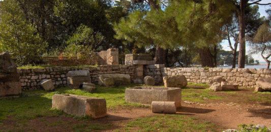 Ruiny římských chrámů v Poreči