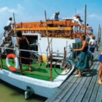 Trajekt přes Neziderské jezero z Rustu do Podersdorfu