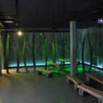 Multimediální kino v Nationalpark-Zentrum Königsstuhl v přírodním parku Jasmund