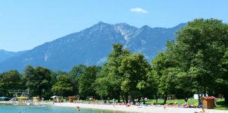 Přírodní koupaliště Kaizenbad v Garmisch-Partenkirchenu