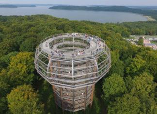 Naturerbe Zentrum Rügen - vyhlídková věž Orlí hnízdo
