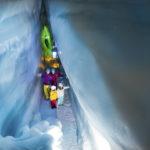 Natur Eis Palast Hintertuxer Gletscher - Modrá komora