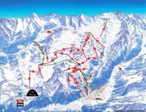 Silvretta Arena - mapa skiareálu
