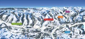 Zauchensee/Flachauwinkl - mapa skiareálu